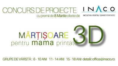 Asociația INACO premiază cele mai creative cadouri imprimate 3D de Ziua Mamei