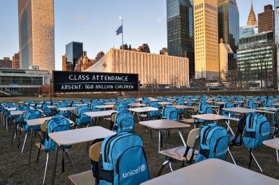 COVID-19: pentru peste 168 de milioane de copii din întreaga lume, școlile sunt închise complet de aproape un an de zile, conform UNICEF