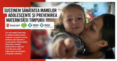 Cea mai amplă intervenție transfrontalieră pentru sănătatea mamelor adolescente și prevenirea maternității timpurii