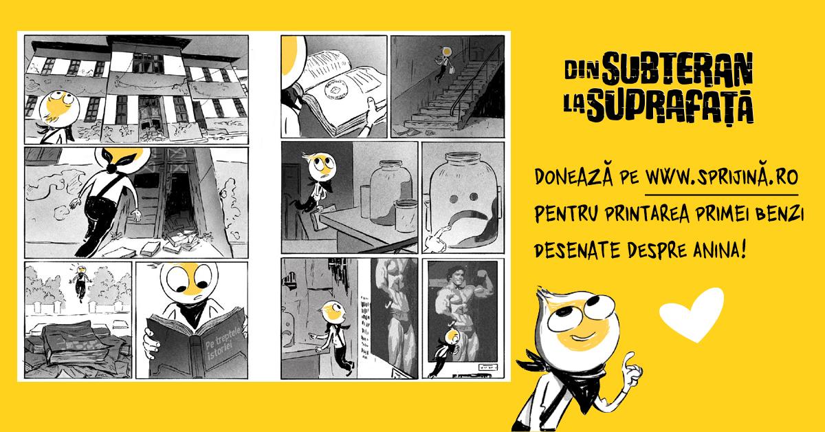 Turul benzii desenate despre Anina în 10 planșe sugestive