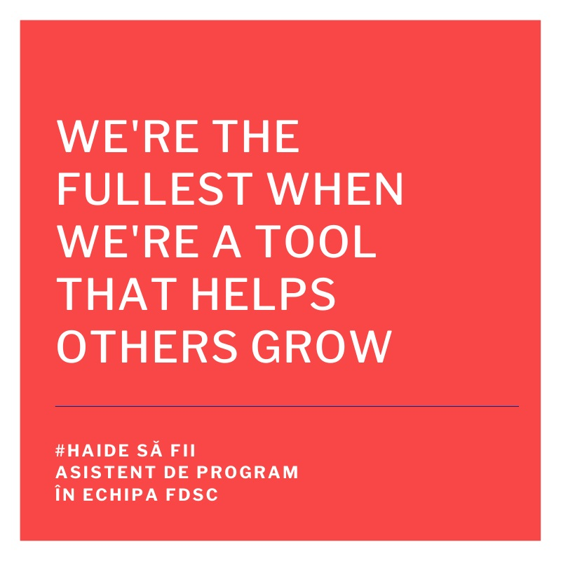 FDSC angajează asistent de program