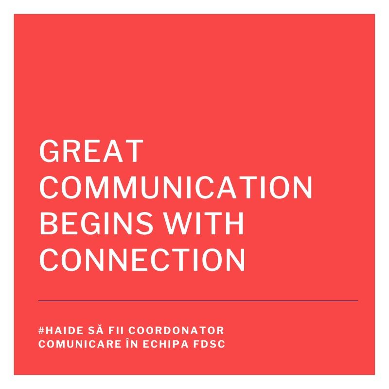 FDSC angajează coordonator comunicare