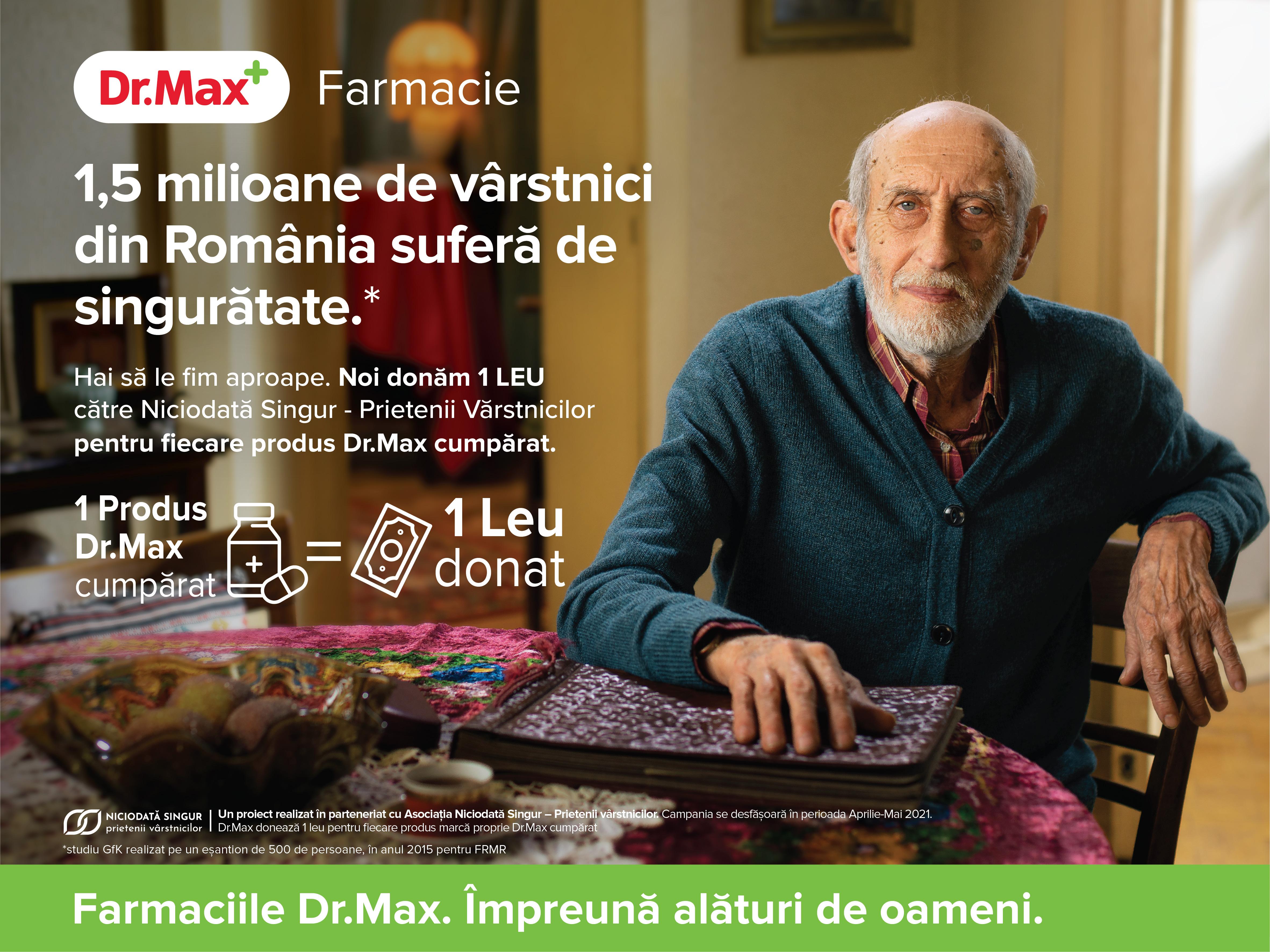 Farmaciile Dr.Max și Asociația Niciodată Singur – Prietenii Vârstnicilor, un parteneriat pentru o comunitate sănătoasă și demnă