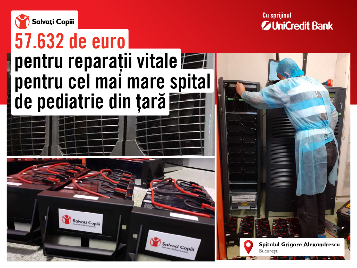 """Au început lucrările de reparații la sistemul de energie permanent al Spitalului """"Grigore Alexandrescu"""". Finanțarea, identificată în timp record"""
