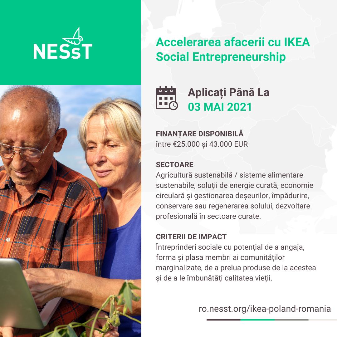 Acceleratorul NESsT & IKEA Social Entrepreneurship în Polonia și România
