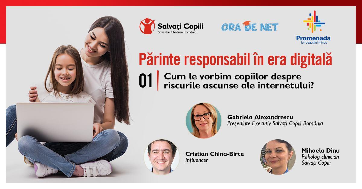 """Salvați Copiii România și NEPI Rockcastle lansează """"Părinte responsabil în era digitală"""""""