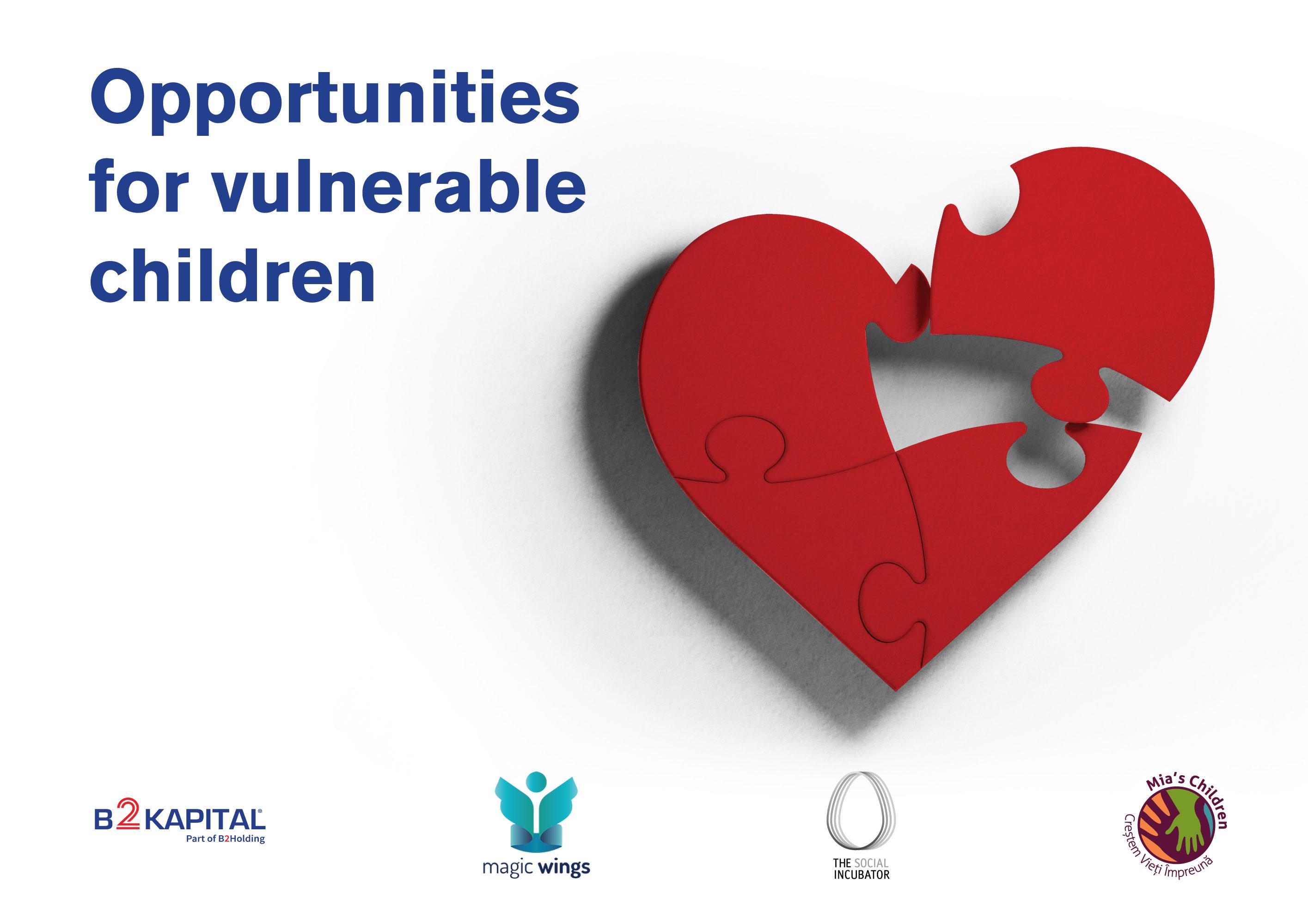 """""""Împreună creăm oportunități pentru copii"""" - prima platformă de CSR lansată de B2Kapital Portfolio Management"""
