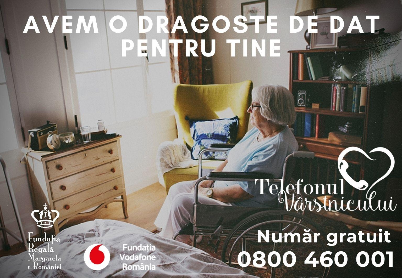 Aproape 4000 de persoane au apelat Telefonul Vârstnicului în pandemie, pentru consiliere și sprijin material sau emoțional