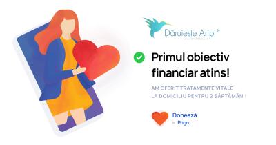 Dăruiește Aripi a atins primul obiectiv financiar setat. O comunitate de donatori schimbă povestea lui Nicușor!