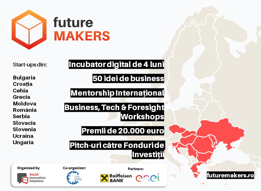 Future Makers: 50 de start-ups, 11 țări & 20.000 de euro premii