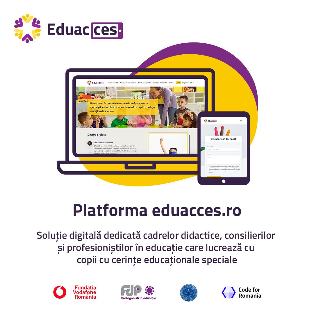 Platforma Eduacces.ro sprijină elevii cu cerințe educaționale speciale să se integreze în școlile de masă