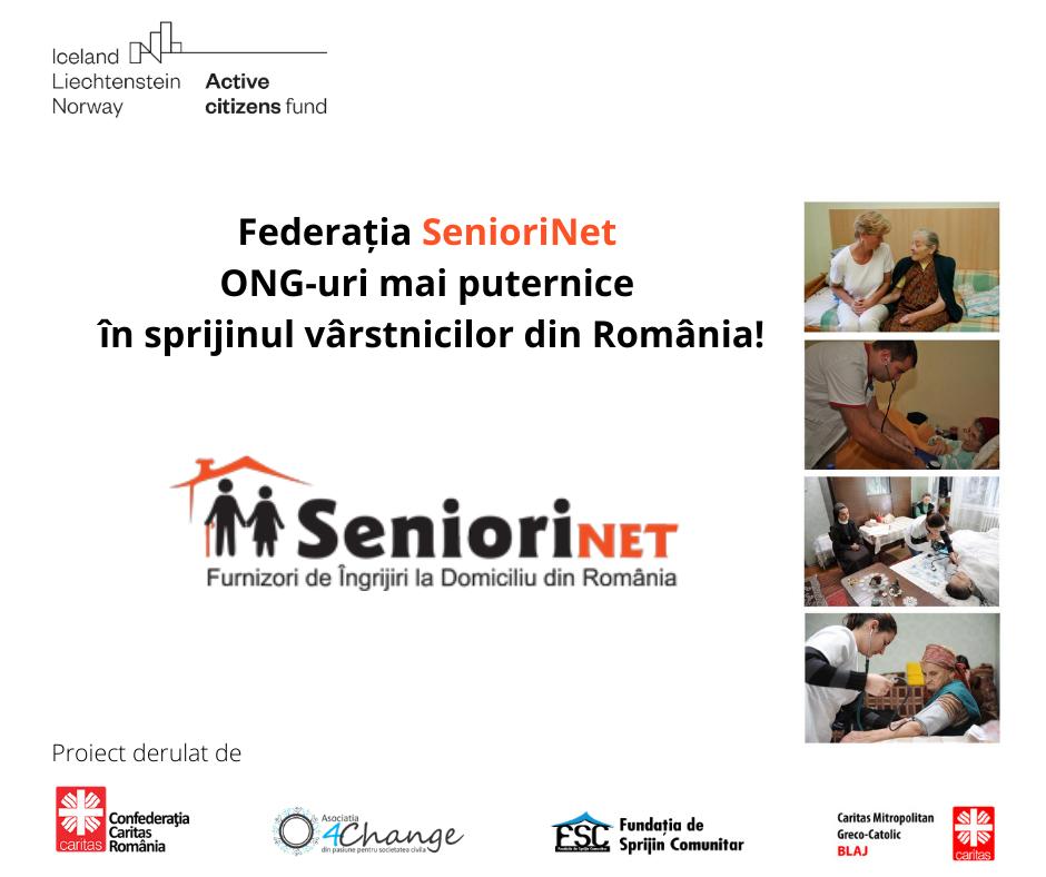 Confederația Caritas România anunță lansarea proiectului  Federația SenioriNet – ONG-uri mai puternice în sprijinul vârstnicilor din România!