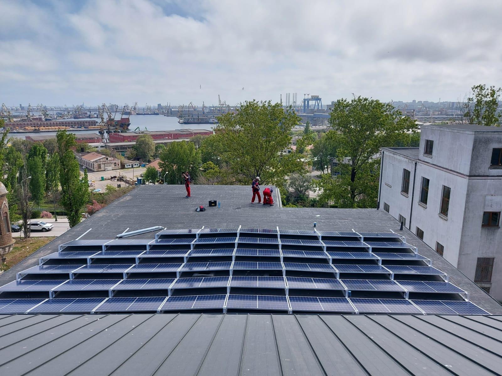 Clădire de patrimoniu național alimentată cu energie verde