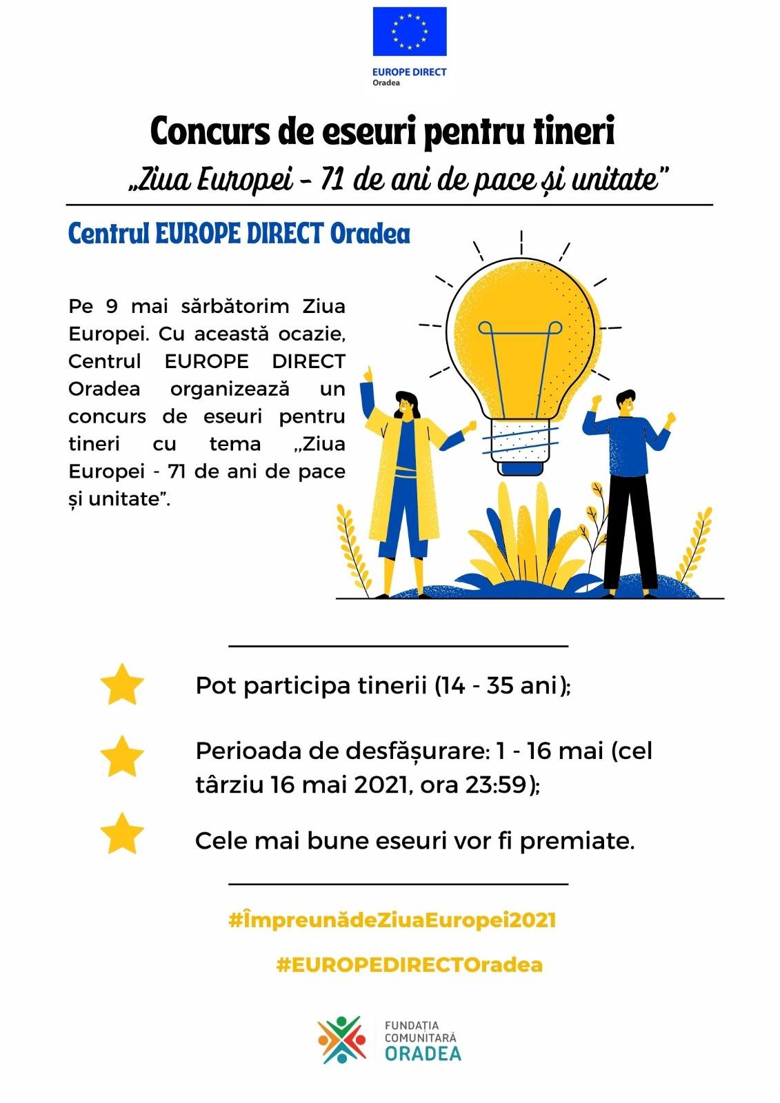 Centrul EUROPE DIRECT Oradea celebrează Ziua Europei