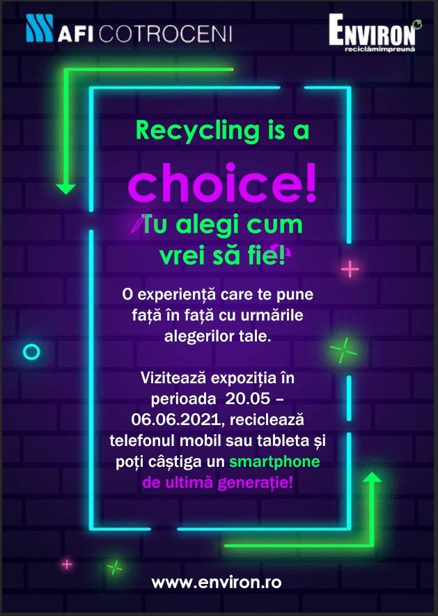 Reciclarea, întotdeauna alegerea corectă la AFI Cotroceni