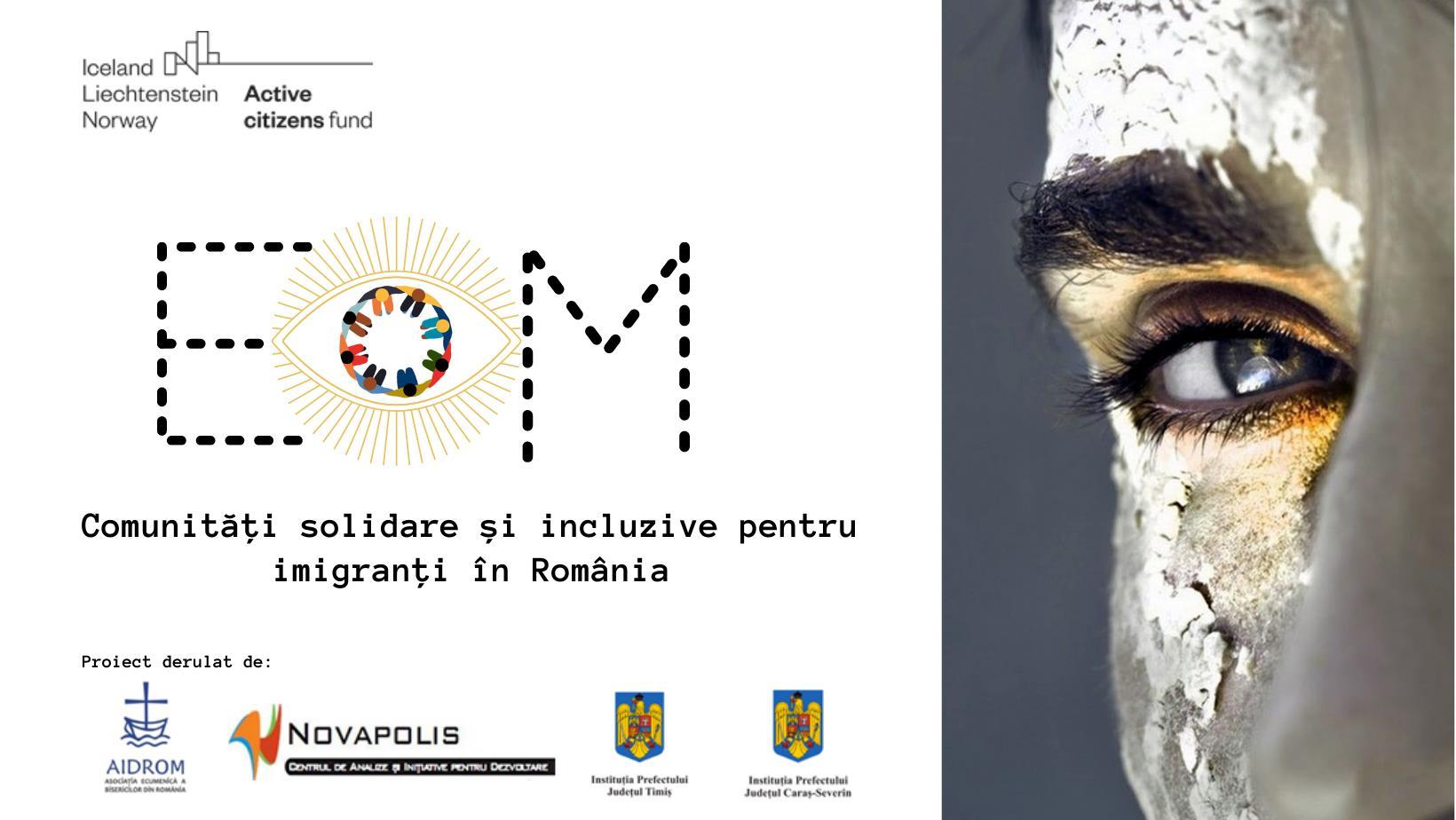 Anunț în vederea lansării proiectului EoM – Comunități solidare și incluzive pentru imigranți în România