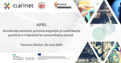 Apel - Rezidențe artistice privind migrația și contribuția pozitivă a migratiei la comunitatea locală – termen limită 28 mai 2021