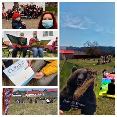 Caravană de promovare a lecturii și voluntariatului în satele vrâncene
