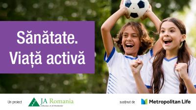 Sănătate. Viață activă – un nou proiect Junior Achievement România