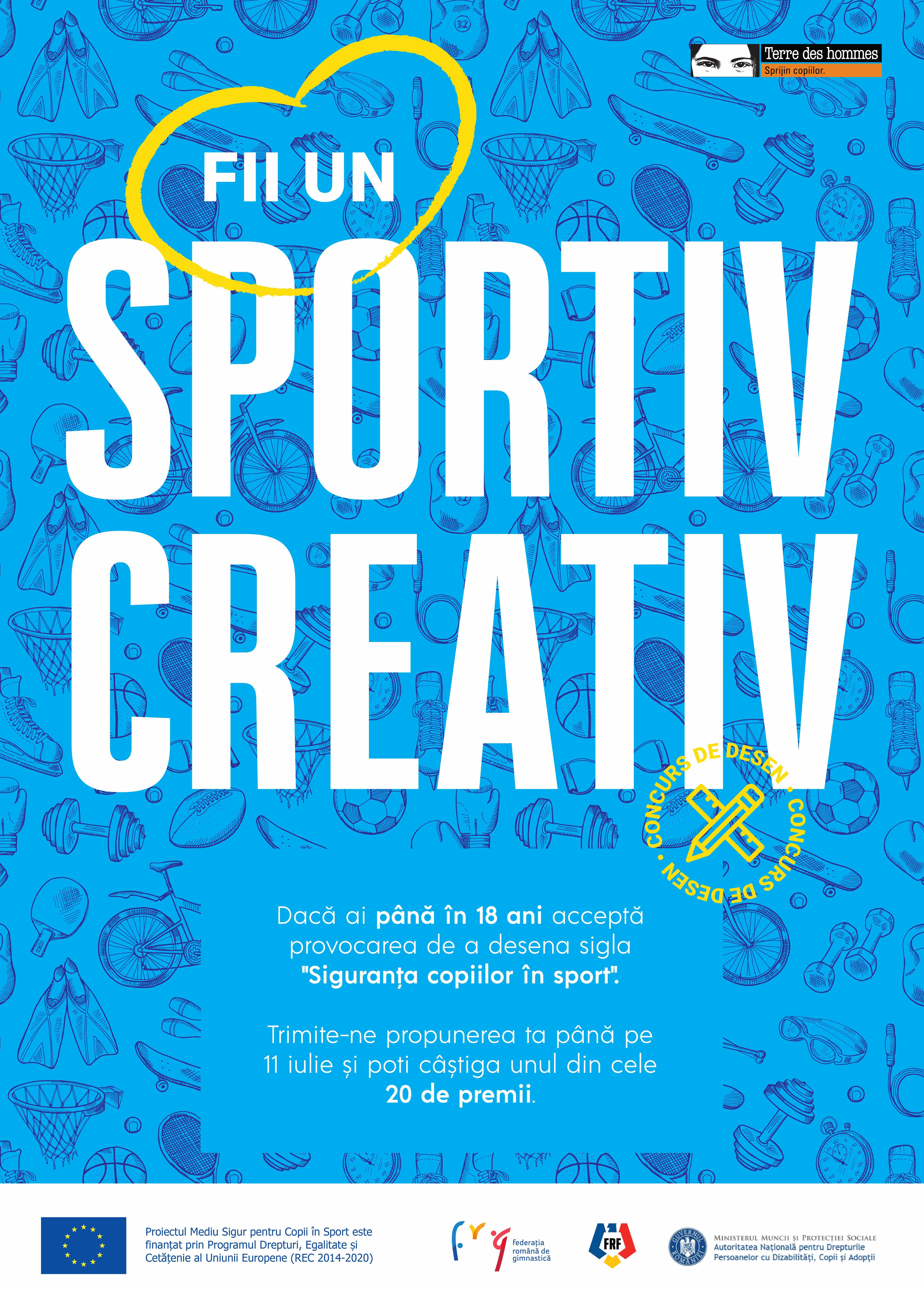 Concurs de desen: Devino creatorul siglei Siguranța copiilor în sport!