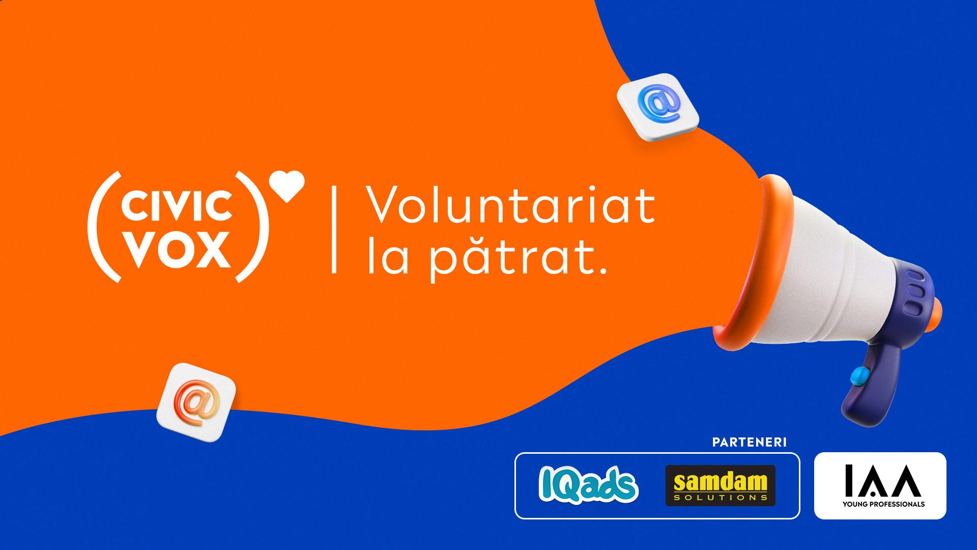 IAA Young Professionals anunță o nouă ediție Civic Vox - Nume sonore din MarCom dau voce ONG-urilor prin VOLUNTARIAT LA PĂTRAT