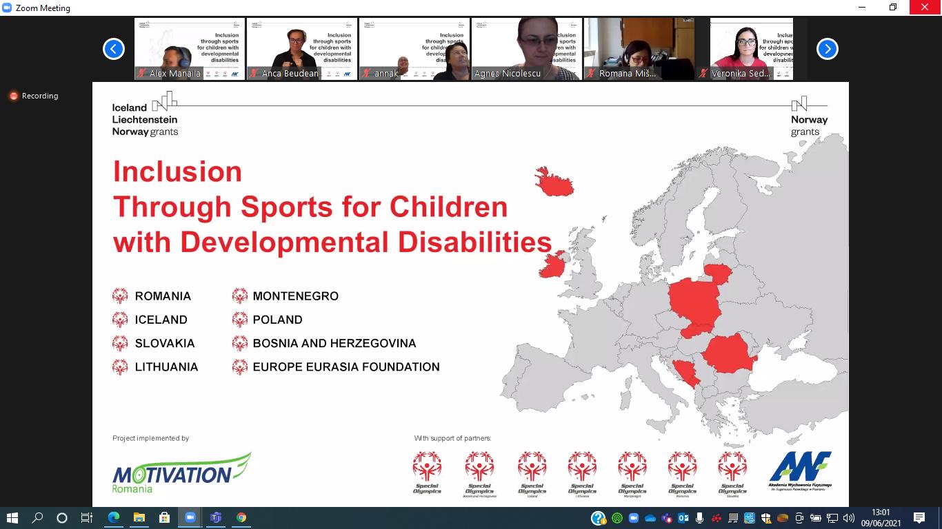 Proiectul Incluziune prin sport pentru copiii cu dizabilități intelectuale promovează egalitatea de șanse prin activități sportive