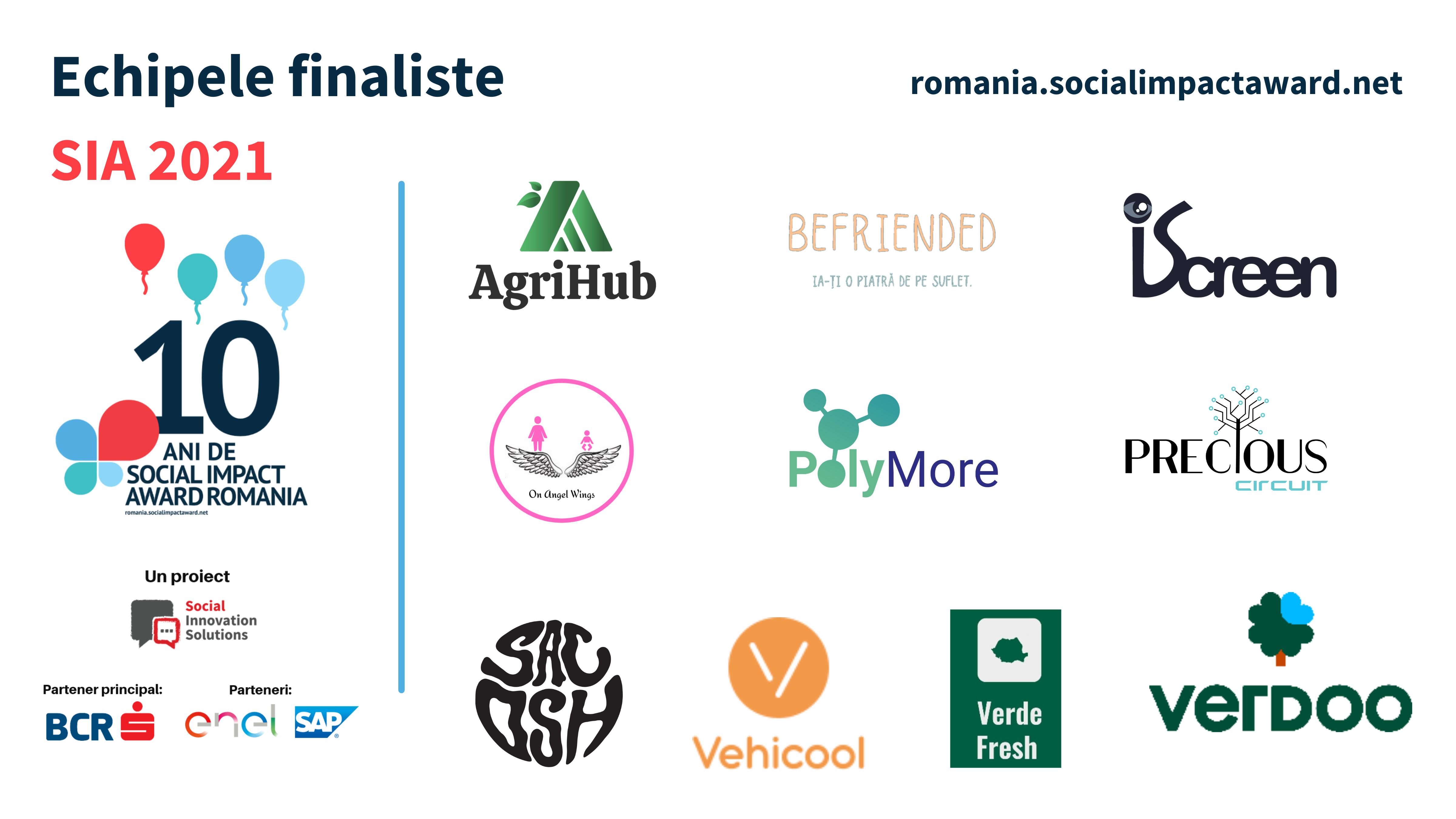 10 echipe finaliste intră în incubatorul Social Impact Award 2021