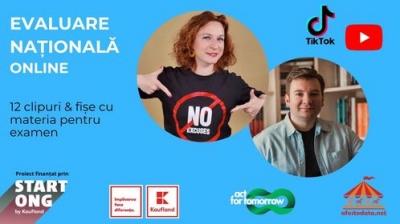 Evaluare națională online - primul proiect din România care a transformat TikTok-ul în noul aliat al elevilor în pregărirea pentru examene