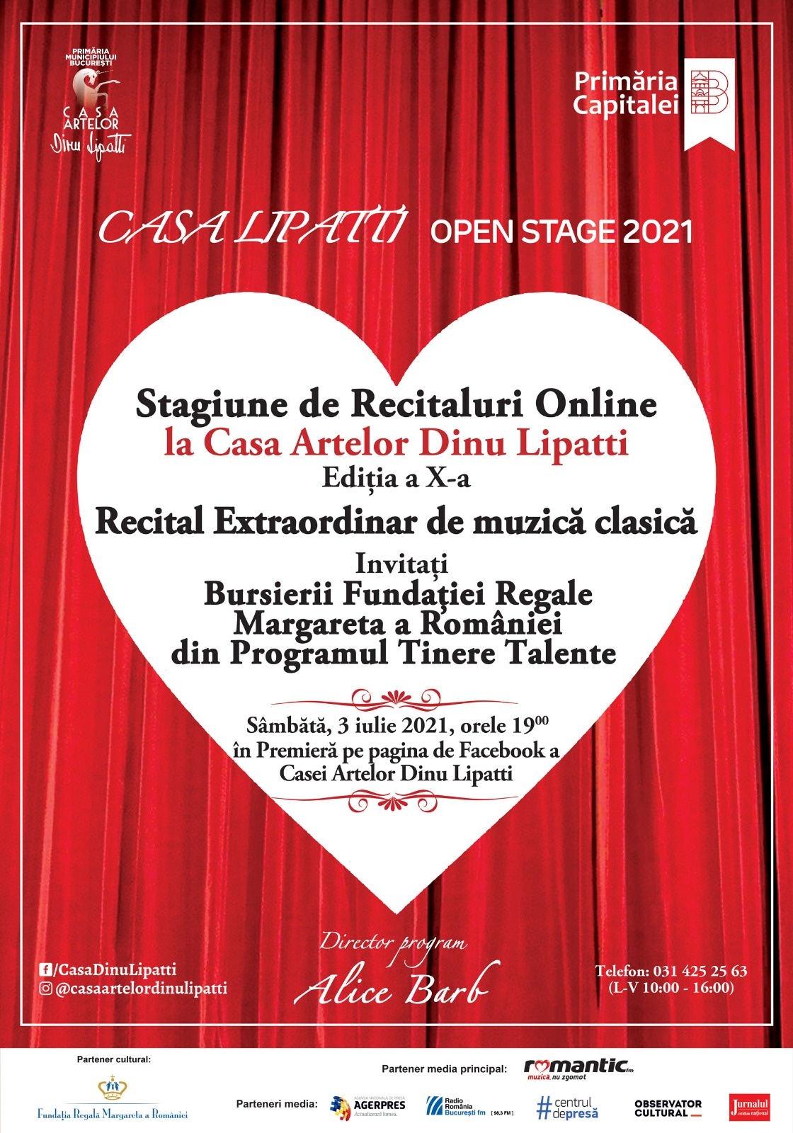 CASA LIPATTI Open Stage, Ediția a X-a Stagiune de Recitaluri Online dedicată tinerilor muzicieni