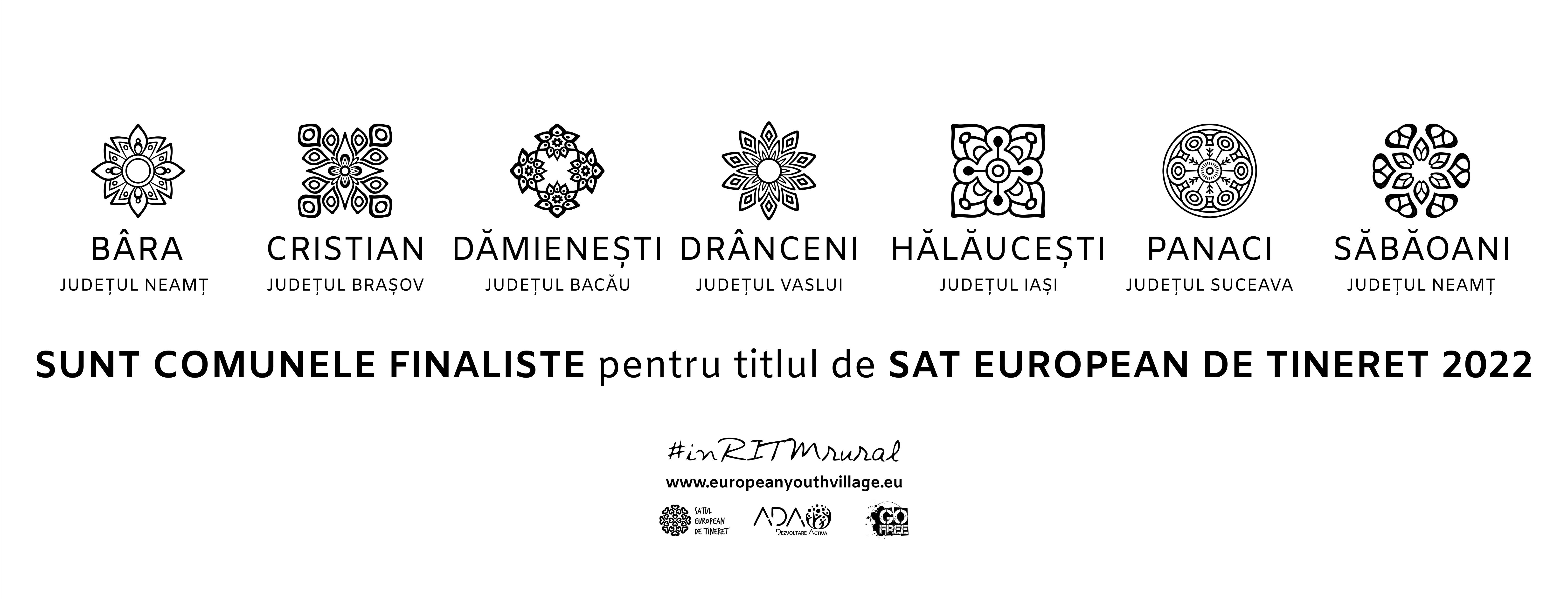 7 comune din România candidează pentru titlul de Sat European de Tineret 2022