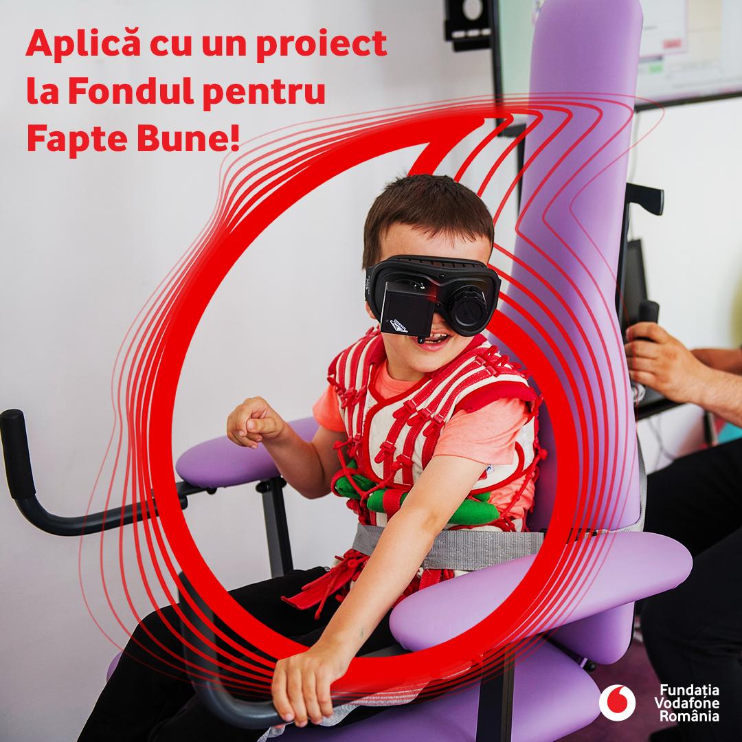 """Fundația Vodafone România lansează a șaptea rundă de finanțare """"Fondul pentru Fapte Bune"""""""