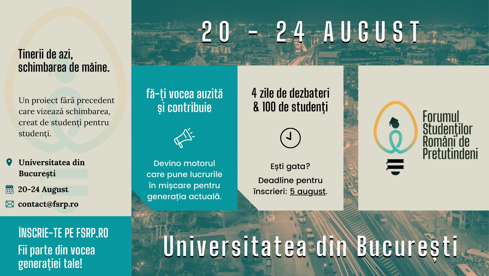 """Înscrie-te ca participant în """"Forumul Studenților Români de Pretutindeni""""!"""