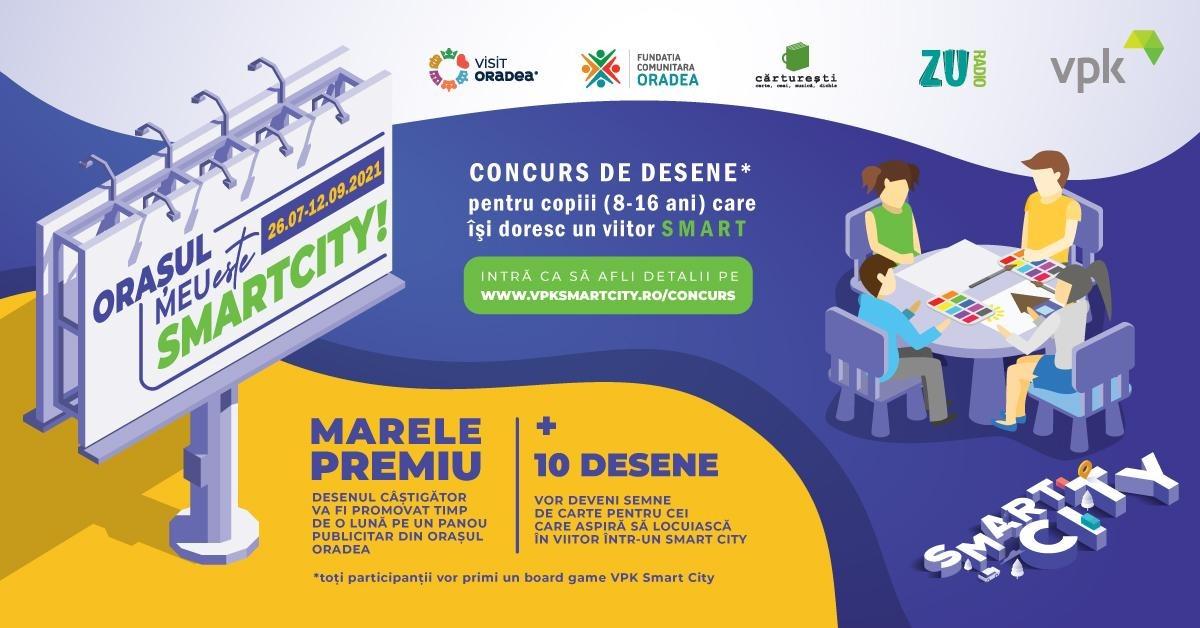Orașul meu este Smart City! Un concurs național de desene pentru copiii smart.