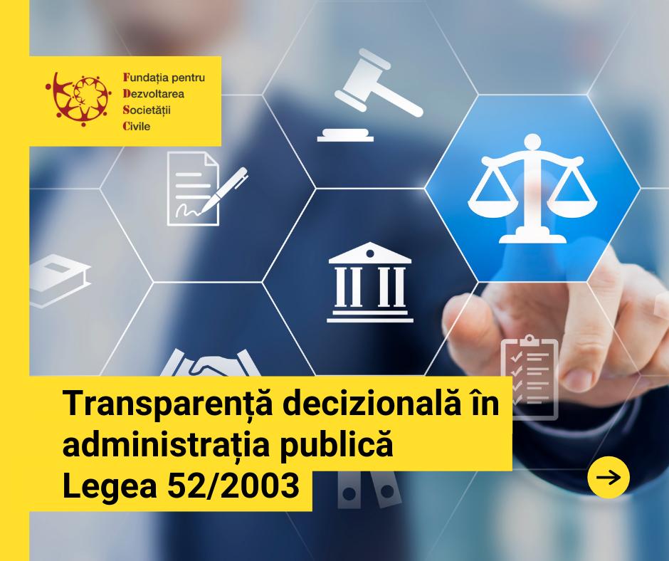Transparența decizională – posibile modificări ale Legii nr. 52/2003 în acest an?