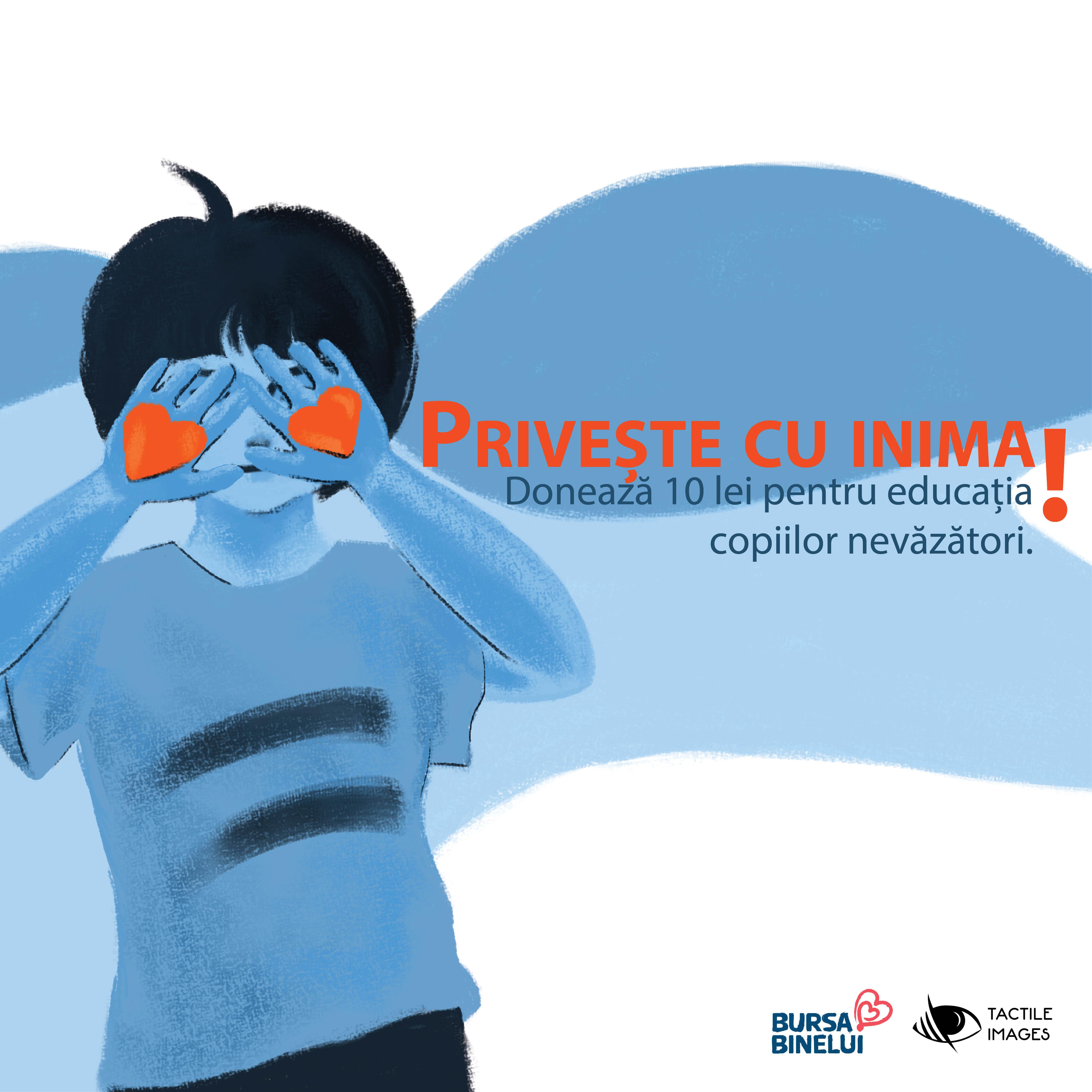 Tactile Images lansează campania de fundraising #PriveșteCuInima pe Bursa Binelui