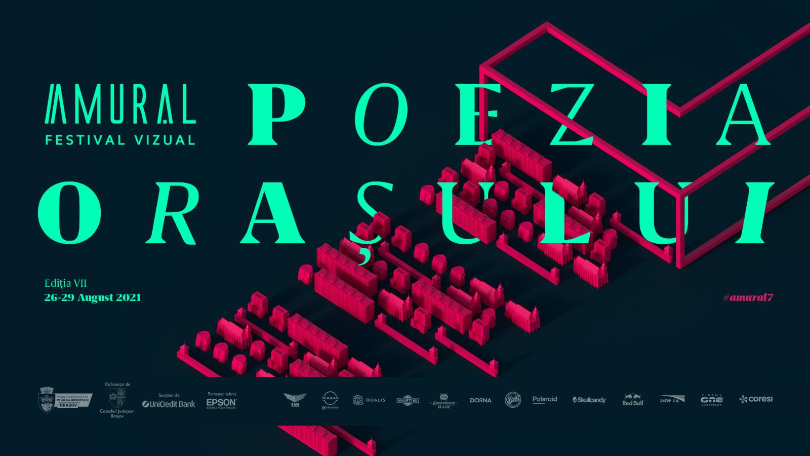 Amural – Poezia Orașului – deschide Brașovul pentru a 7-a oară