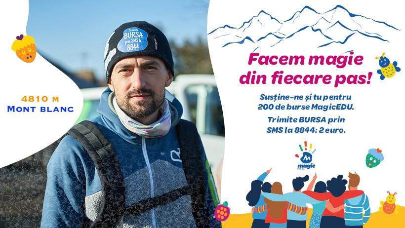 Mont Blanc (4.810 m) pentru educația a 200 de copii cu cancer