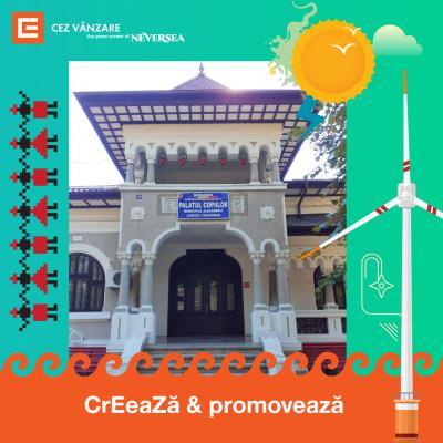 CEZ Vânzare în parteneriat cu Neversea donează energie verde gratuită timp de 6 luni Palatului Copiilor Alexandria