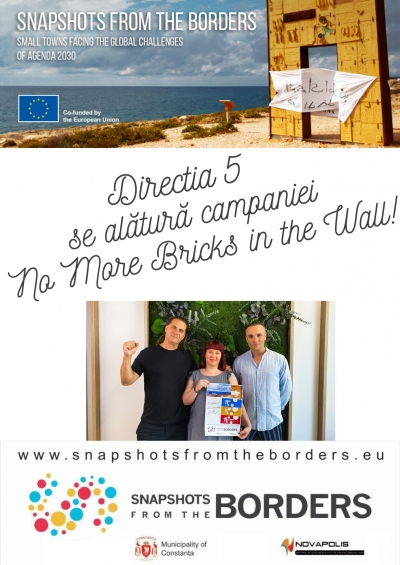 "Direcția 5 - ambasador al Campaniei ""No more bricks in the Wall"" în România!"