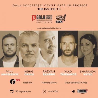 Binele aduce câștigătorii Galei Societății Civile împreună la Evening Glory