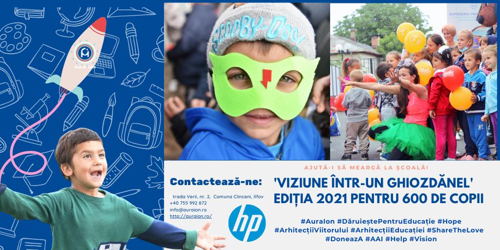 """Compania HP sponsorizează un proiect al Asociației """"Aura Ion"""""""