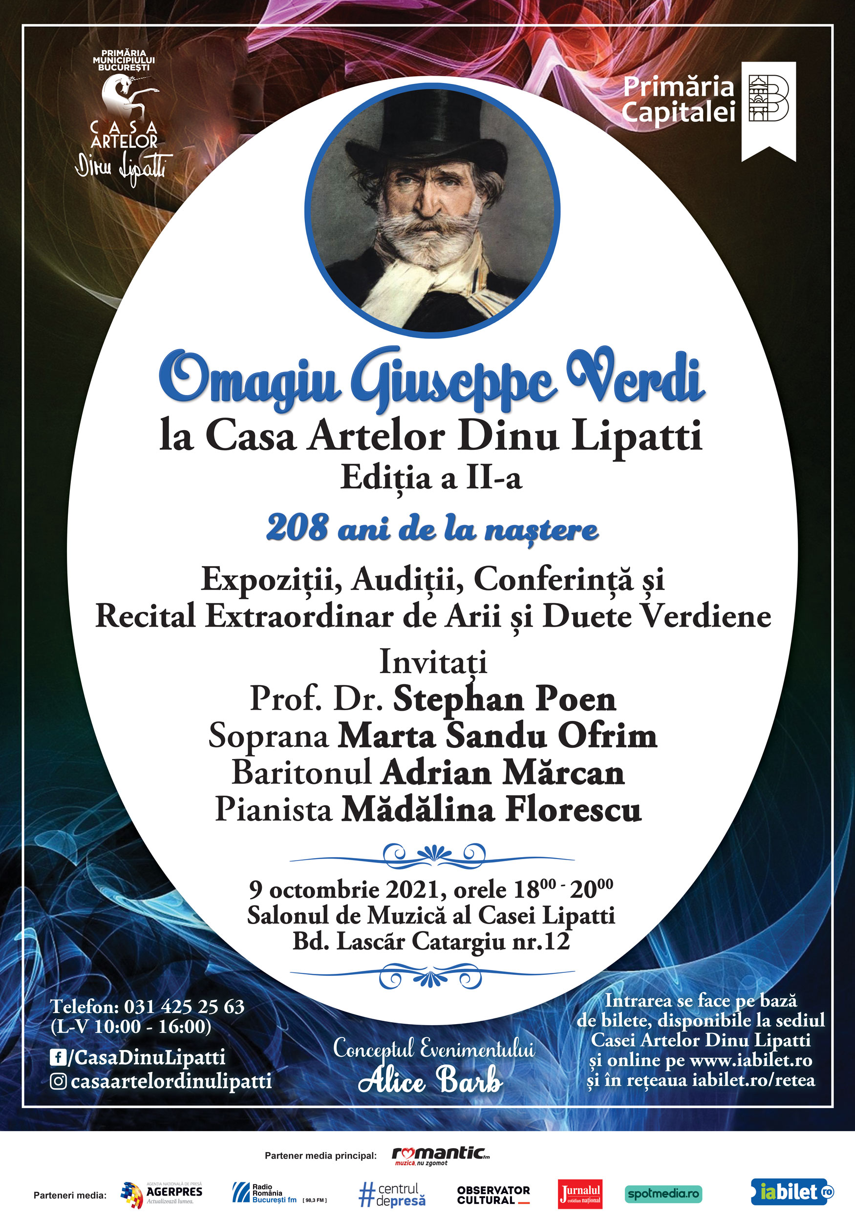 Omagiu Giuseppe Verdi la Casa Artelor Dinu Lipatti, Ediția a II-a 208 ani de la naștere