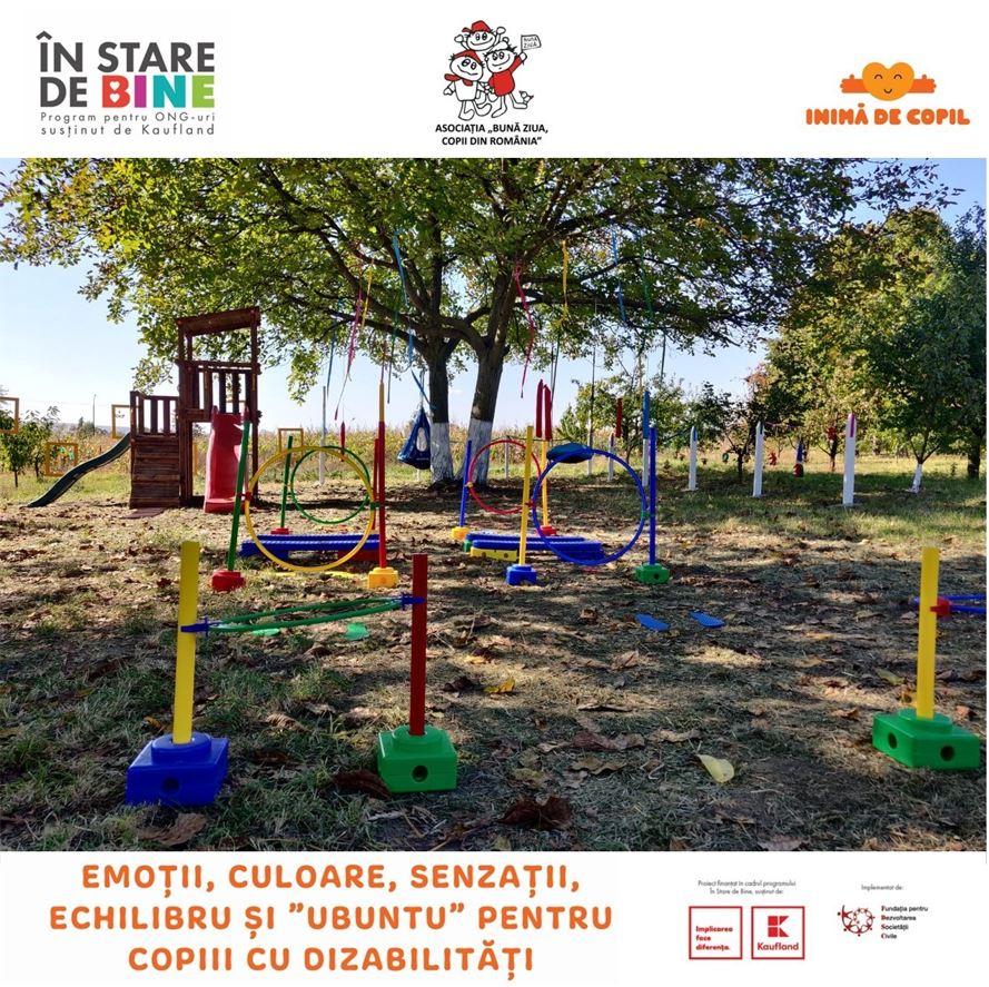 Asociaţia Bună ziua copii din Romậnia a inaugurat Grădina Senzorială