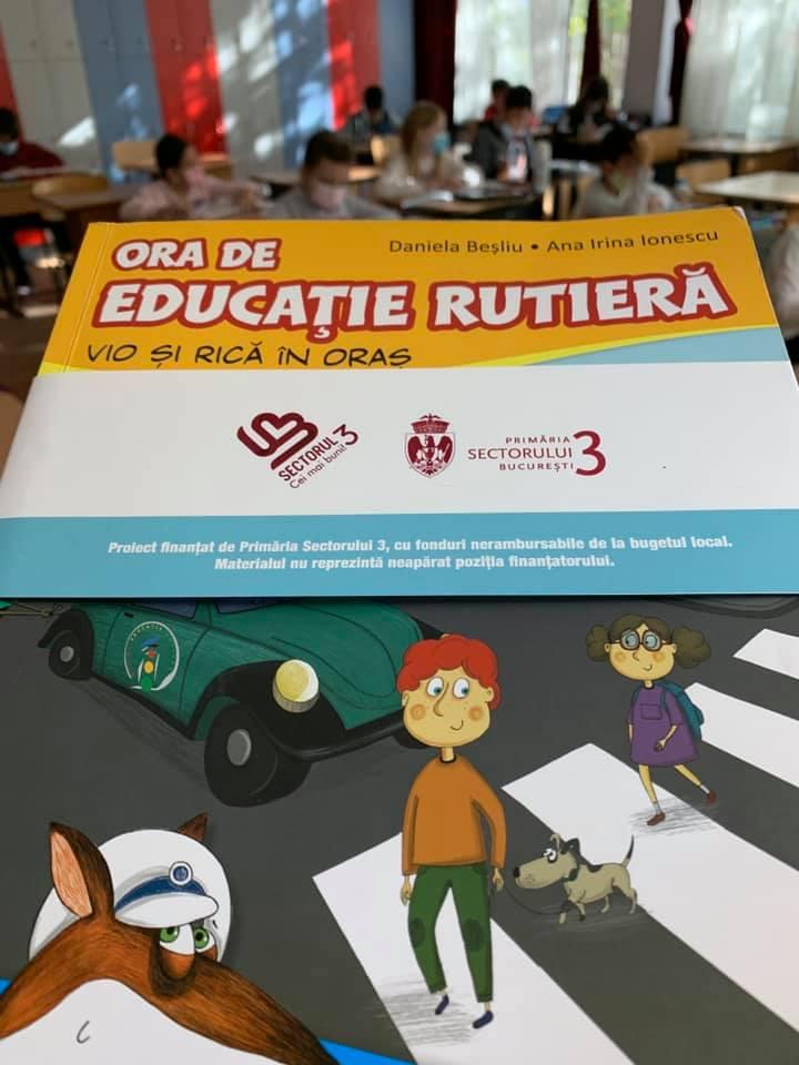 1200 de elevi din 10 școli ale sectorului 3 vor beneficia de ore de educație rutieră prin programul România în siguranță