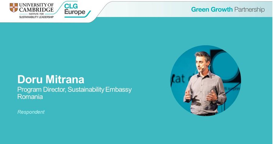 Ambasada Sustenabilității, reprezentanta României la dezbaterile din cadrul summitului Green Growth 2021