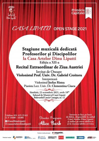 Programul CASA LIPATTI Open Stage, Ediția a XII-a Stagiune Muzicală dedicată Profesorilor și Discipolilor