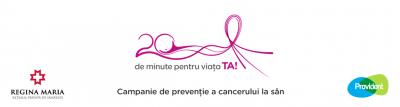 20 de minute pentru viața ta: Provident și Rețeaua de Sănătate Regina Maria continuă parteneriatul pentru lupta împotriva cancerului de sân