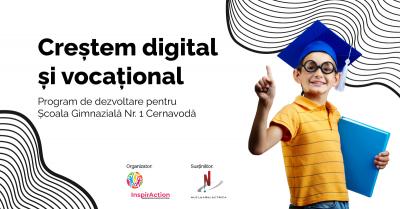 """Asociația InspirAction împreună cu Nuclearelectrica lansează programul """"Creștem digital și vocațional"""" pentru tinerii din Cernavodă"""