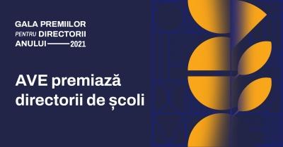 Asociația pentru Valori în Educație prelungește termenul de înscriere pentru Premiile Directorii Anului 2021, ediție desfășurată sub Înaltul Patronaj al Președintelui României
